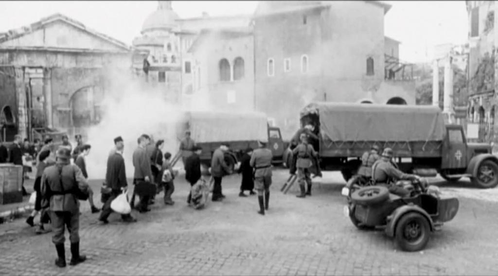 Portico d'Ottavia, 16 ottobre 1943. Rastrellamento ghetto